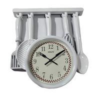 Relógio de parede talheres cozinha 32x34x3 cm decoração - Yin'S