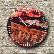 Relógio de parede tema catolico religioso mãos ensanguentadas de jesus - Armazem