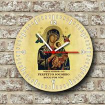 Relógio de parede tema catolico religioso nossa senhora do perpétuo socorro - Armazem