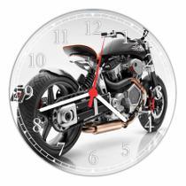 Relógio De Parede Vintage Retrô Motos Decoração Quartz - Vital Quadros