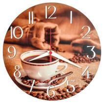 Relógio De Parede Xícara Café Cozinha Decoração 30cm - Relógil