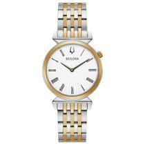 Relógio De Pulso Bulova Prata e Dourado Feminino - 98L264 -