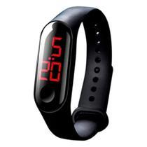 Relógio de Pulso Digital LED com Pulseira de Silicone Unissex Adulto Infantil Esportivo - Sobrinhos