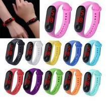 Relógio De Pulso Digital Led Masculino Feminino Várias Cores - BRACELET - LED