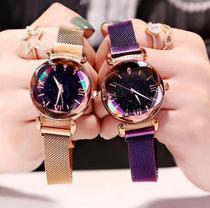 Relógio de Pulso Feminino Com Visor Fundo Estrelado em Quartzo - Shuchen