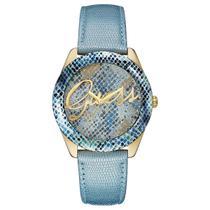 7a02b08264f Relógio de Pulso Guess Coleção Jeans Feminino 92536LPGTDC3 - Azul e Dourado