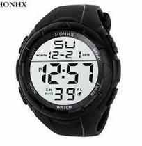 Relógio de Pulso HNH Masculino Militar Digital Esportes ao Ar Livre Data Hora Luminosa Cronômetro -