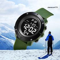 Relógio de Pulso KAK Masculino Militar Digital Esportes Data Hora Alarme Cronômetro cor: Verde -