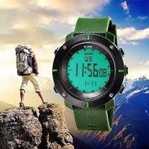 Relógio de Pulso KAK3 Masculino Militar Digital  Data Hora Alarme Cronômetro cor: Green Army -