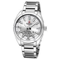 Relógio de pulso masculino aço prata - Naviforce