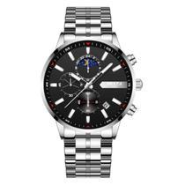 Relógio de pulso masculino Nibosi 2501 dourado +cores -