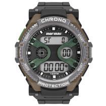 Relógio de Pulso Mormaii AcquaPro Digital Masculino MO8590AB/8V - Preto e Marrom -