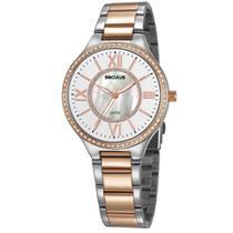 Relógio de Pulso Seculus Feminino Misto 20750LPSVGS1 - Prata e Rosé -