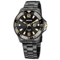 Relógio de Pulso Seculus Long Life Masculino 20831GPSVPA2 - Preto -