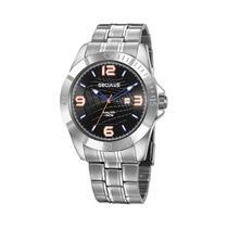 Relógio de pulso seculus masculino aço prata -