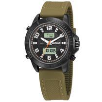 Relógio de Pulso Seculus Masculino com Pulseira de Silicone 20792GPSVPU2 - Verde e Preto -