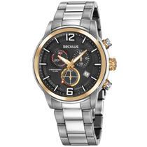 Relógio de Pulso Seculus Masculino Misto com Cronógrafo 13040G0SVNA1 - Prata e Dourado -