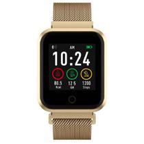 Relógio de Pulso Seculus SmartWatch com Monitoramento de Frequência Cardíaca 79006MPSVDE4 - Dourado -