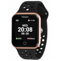 Relógio de Pulso SmartWatch Champion com Monitoramento Cardíaco CH50006Z - Preto e Rosé - Champion Watch