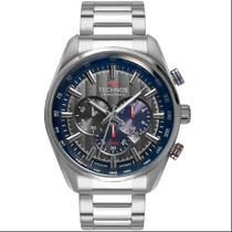 Relógio de Pulso Technos Masculino com Cronógrafo OS20HMH/1C - Prata - Mormaii