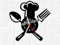 Relógio De Vinil Disco Lp Parede  Cozinha Casa Decoracao - 3D Fantasy