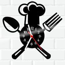 Relógio De Vinil Disco Lp Parede  Cozinha Casa Decoracao Chef - Rb Criações