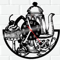 Relógio De Vinil Disco Lp Parede  Cozinha Casa Decoracao Cupcake - Rb Criações