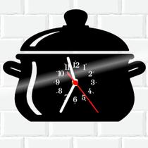 Relógio De Vinil Disco Lp Parede  Cozinha Casa Decoracao Panela - Rb Criações