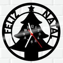 Relógio De Vinil Disco Lp Parede  Natal - Rb Criações