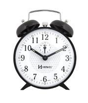 Relógio Despertador A Cordas Com Campainha Mecânico Antigo preto - Herweg