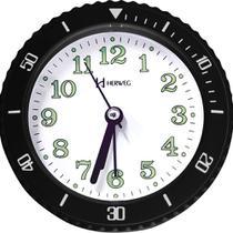 Relógio Despertador A Pilha Preto Alarme Herweg 2714-034 -