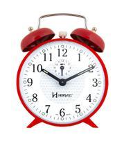 Relógio Despertador Antigo Mecânico A Cordas vermelho Alice - Herweg