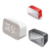 Relogio despertador bluetooth caixa de som digital usb fm sd espelho radio vintage - Gimp