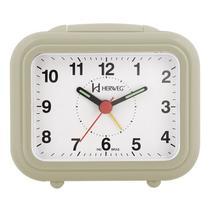 Relogio despertador decorativo retangular mecanismo step marfim herweg -