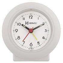 Relogio despertador decorativo tradicional mecanismo step branco herweg -