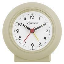 Relogio despertador decorativo tradicional mecanismo step marfim herweg -