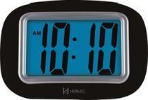 Relógio Despertador Digital Com Luz Noturna e Soneca - Herweg - Preto -