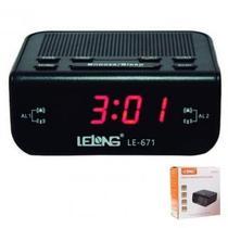 Relógio Despertador Digital Elétrico De Mesa Radio Am Fm - Lelong
