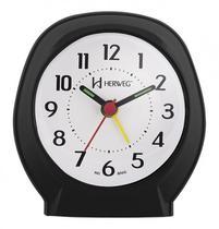 Relógio Despertador Herweg Quartz 2634-034 Preto -