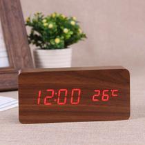 Relógio Despertador Mesa Digital Madeira Com Sound Control - Sto01