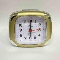 Relógio Despertador Quartz Madri Haller Dourado -