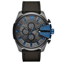 Relógio Diesel Masculino Dz4500 Grafite e azul cronografo -