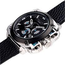 Relógio Diesel Masculino Dz7345/0pn em couro preto -
