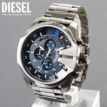 Relógio Diesel Masculino Stand Out Mega Chief Prata - Dz4417 prata azul -