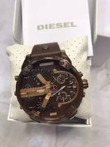 Relogio Diesel V724 Dz7316 Mr Daddy Marrom Caixa Manual -