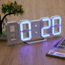 Relógio Digital 3d Led Parede Mesa Alarme Snooze Com Alarme 12/24 Horas - Getit Well