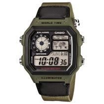 Relógio Digital Casio AE-1200WHB-3BVDF Masculino -