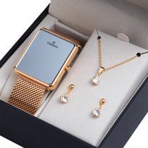 Relógio Digital Champion Rosê Espelhado Ch40080Z -