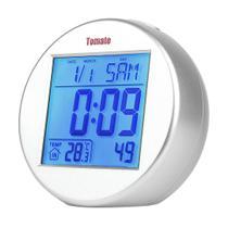 Relógio Digital Com Função Calendário E Despertador - Tomate