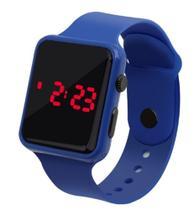 Relógio Digital De Led Quadrado Pulseira Bracelete Adulto Infantil Azul Royal - Sm